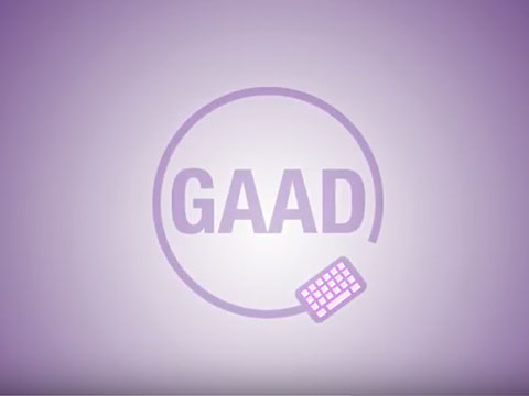 "Video Thumbnail that says ""GAAD"""