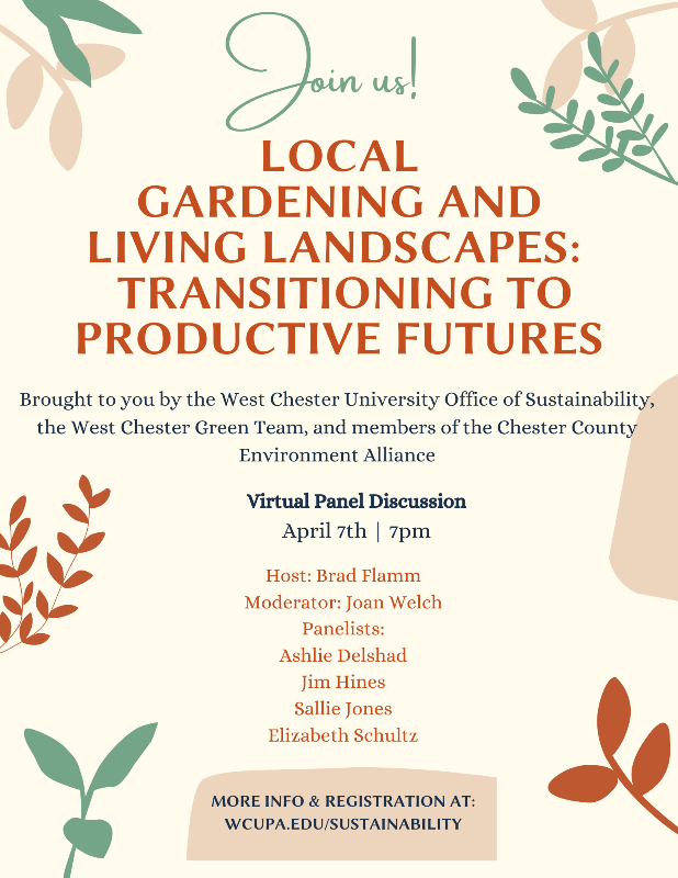 Local Gardening and Living Landscapes Panel Discussion Flyer