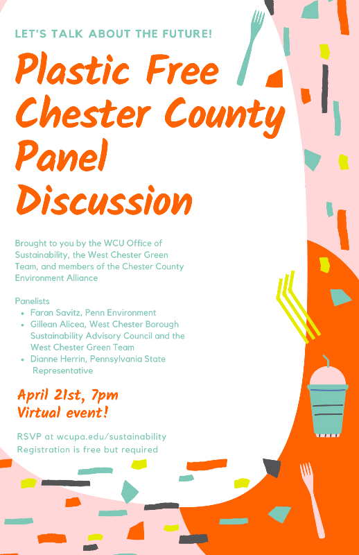 Plastic Free Chester County Panel Discussion Flyer