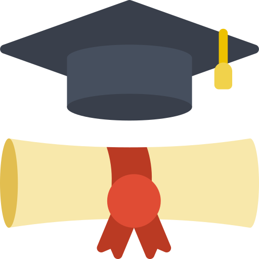 Scholarly and Creative Activities Committee icon - graduation cap and diploma
