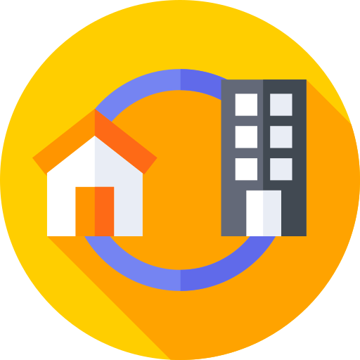 Buildings and Energy Committee icon - house and office building