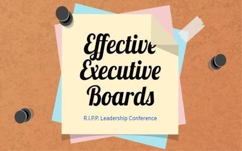 Effective executive boards