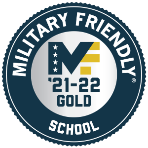 Military Friendly 2021 Logo Gold Recognition