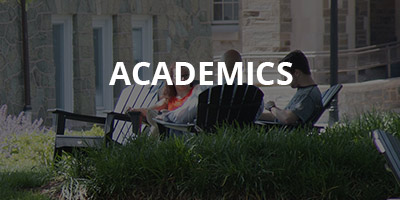 "Image of students with word ""ACADEMICS"" overlaying it"