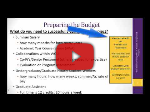 Video Tutorial: Creating a Budget