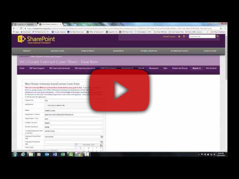 Video Tutorial: Electronic Grant Coversheet Video