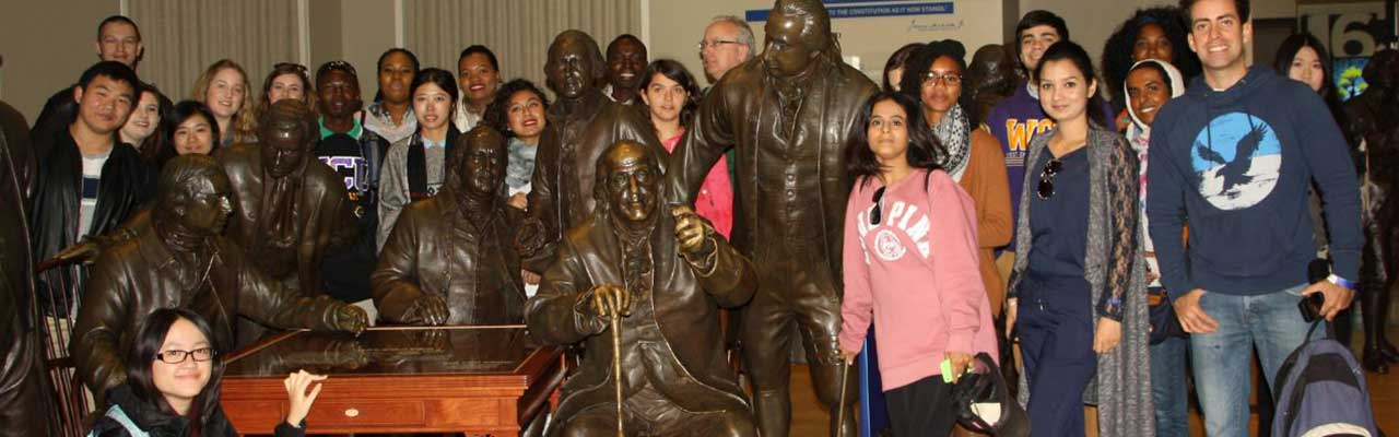 Students visit Constitution Center