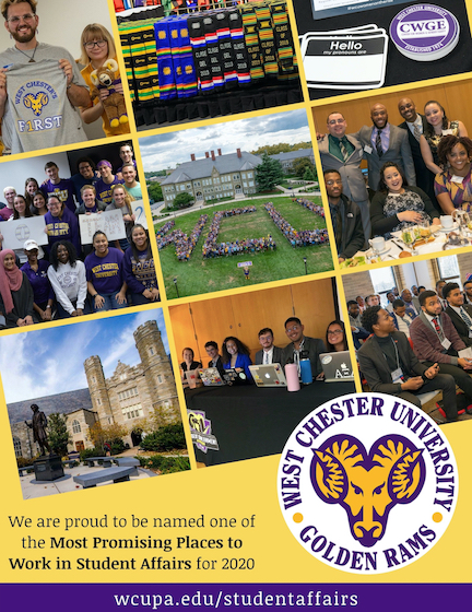 Spread the Word - 1.Newsletters - Ram Roundup, Dosa Developments, Ram Fam Monthly, Stall Seat Journal, Philly Campus Newsletter. 2 - Campus Media, Digitalsignange@wcupa.edu. WCU weekly, WCUR, The Quad, RamConnect, Campus Photagrapher, WCUPA Featured Story. 3 - Print It. Flryers, Lawn Signs, Banners, Sykes Display Cases, Lobby Posters, Rammy cutout signs. 4 - Person to person. Vending Tables, Sykes, Lawrence, Schmucker, Quad. 5 - Social Media. Department pages, Student of Affairs pages, WCUPA pages, Insta Takeovers, Tag, Show hashtag post for giveaways. 6 - Common Calendars. Ramconnect, 35Live, WCUPA Events Calendar, Social Equity Calendar.
