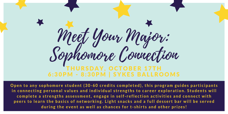 Meet your major: Sophomore Connection