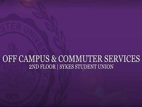 Watch video about Off Campus and Commuter Services
