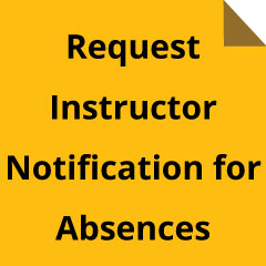 Request and instructor absence
