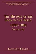The History of the Book in the West Book Cover