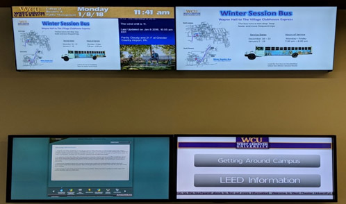 The Evolution of Digital Signage at WCU