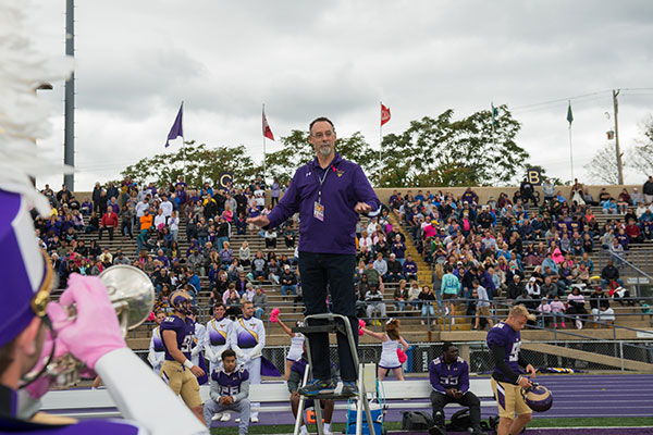 #WCUPresidentialShadow: A Day in the Life of WCU's Marching Band Director