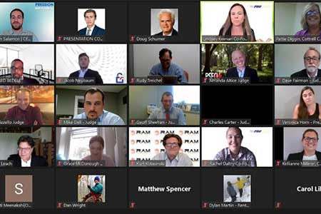 Group of people oin a zoom meeting