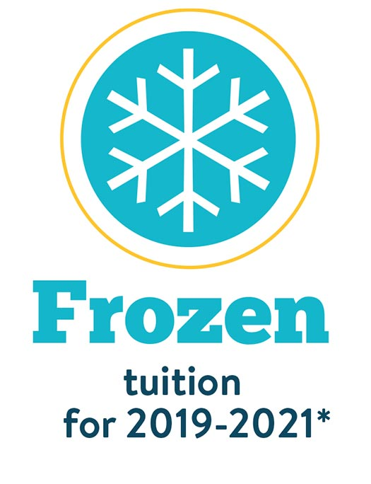 frozen tuition 2019-2021