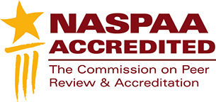 NASPAA Acredited - The Commission on Peer Review and Accreditadtion logo