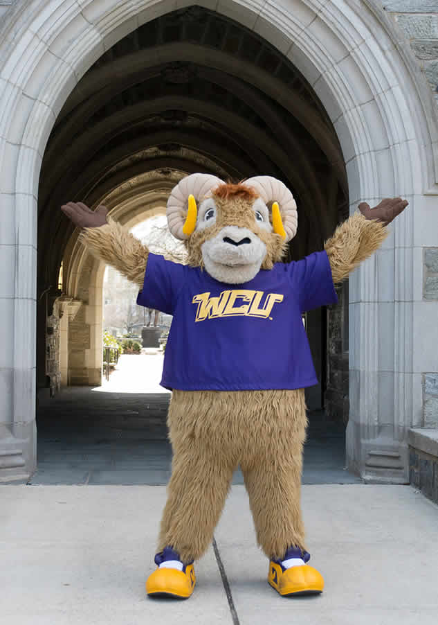 West Chester University's Mascot Rammy