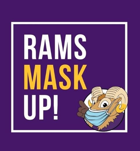 Rams mask up