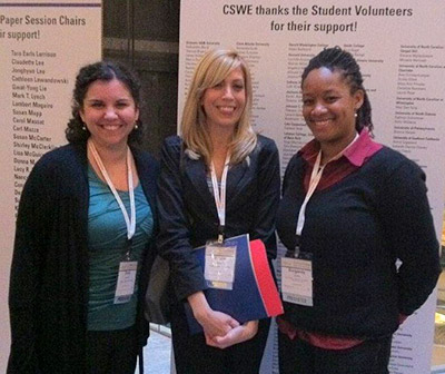 Student editors of VOICES at the Council on Social Work annual meeting in 2011