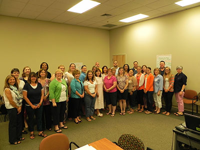 Group photo of School of Health Leadership Instiute in Lancaster
