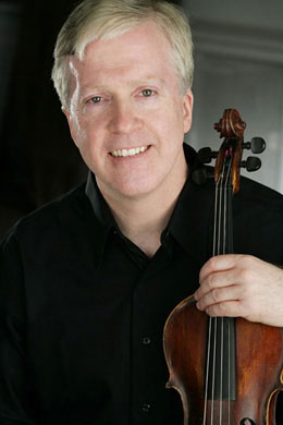 Musician Brian Conway with violin