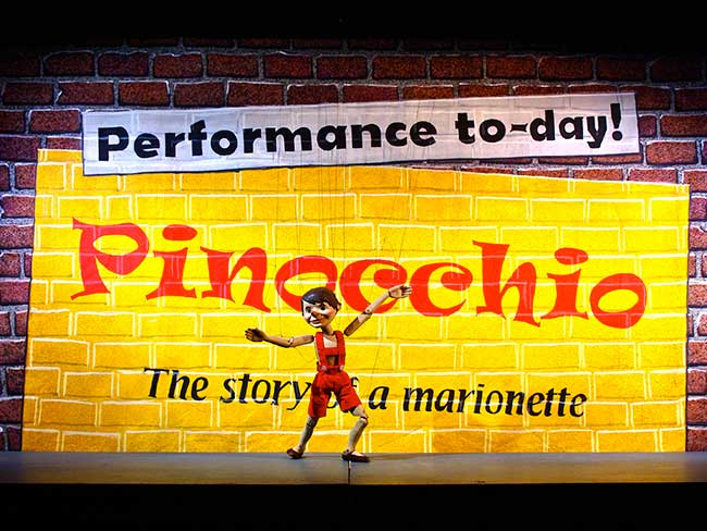 Advertisement for Pinocchio play