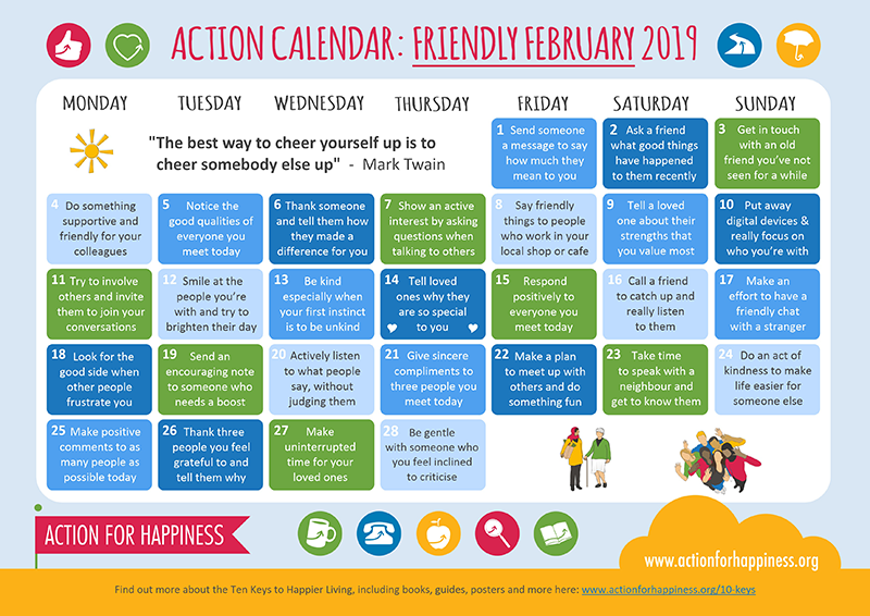 Happy New Year Calendar - February 2019