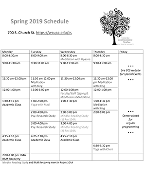 Spring 2020 Schedule of Events