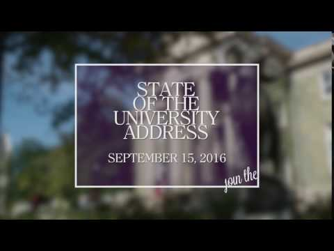 video: State of the University Address - September 15, 2016