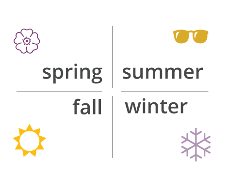 Spring, summer, fall, winter