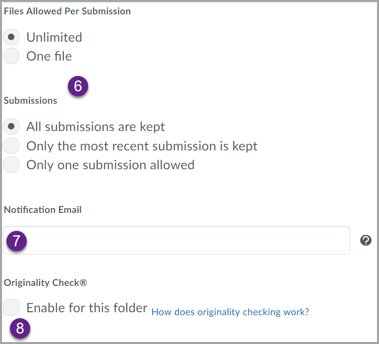 assignment submission options