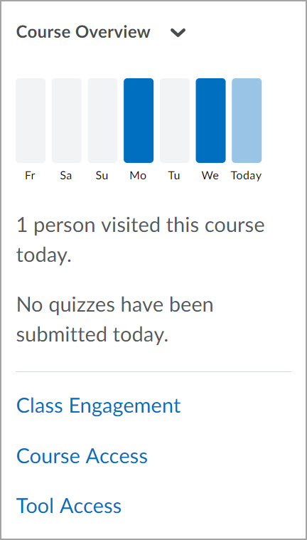 Course Overview Widget