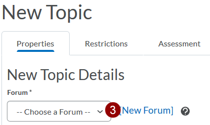 Choose Forum