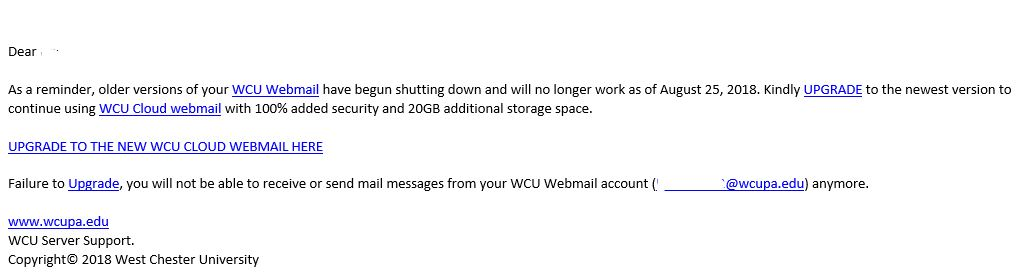is t email notice notices west chester university rh wcupa edu