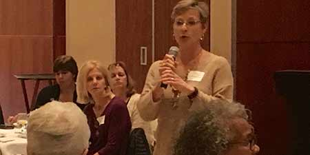 Lynn Klingensmith, director of Social Equity, at Women in Higher Education Leadership program