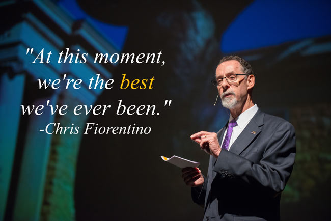 At this moment, we're the best we've ever been. -Chris Fiorentino