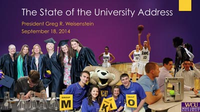 WCU State of the University Address 2014 video