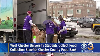 West Chester Students Collect Food for Chester County Food Bank