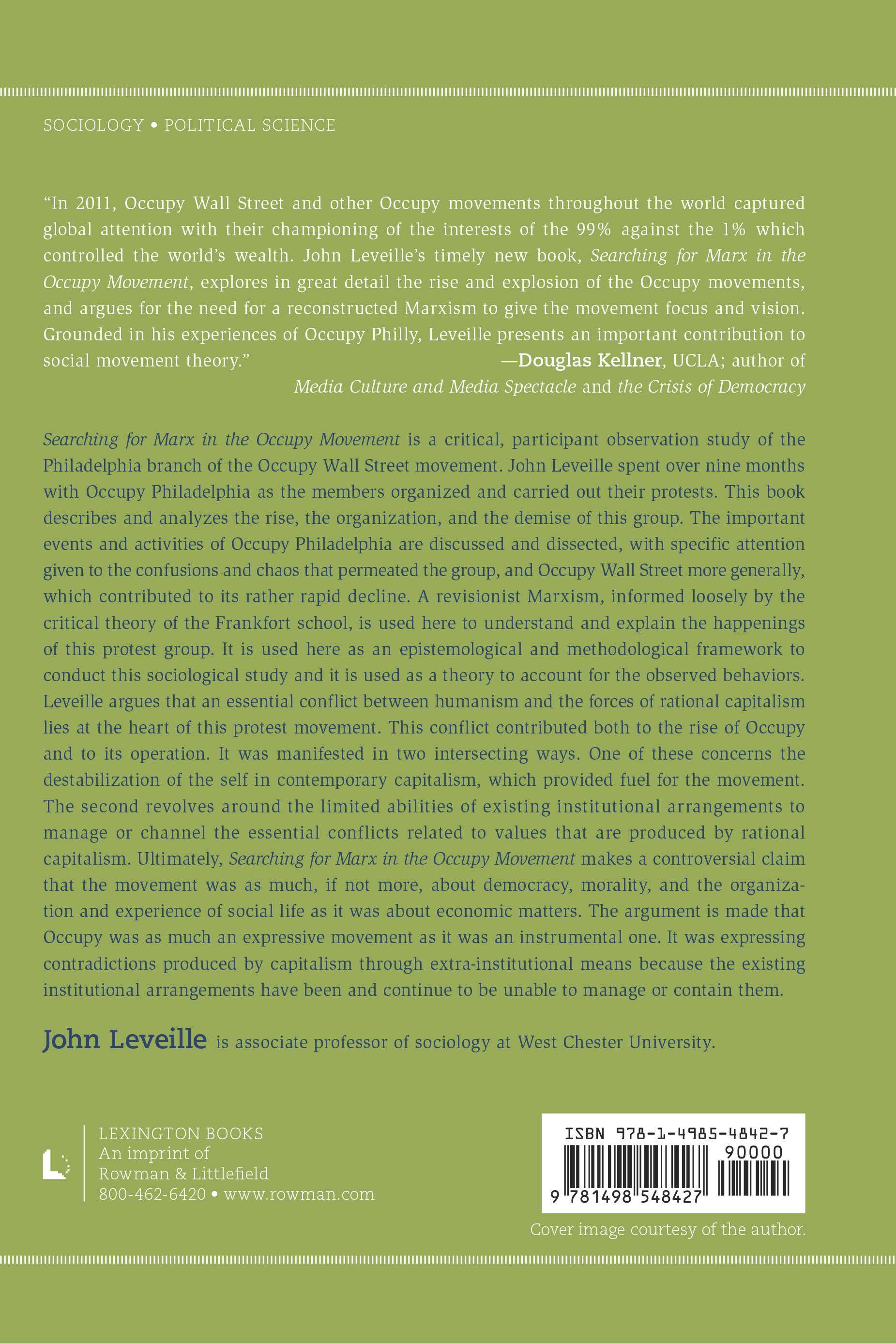John Leveille's Book Back Cover
