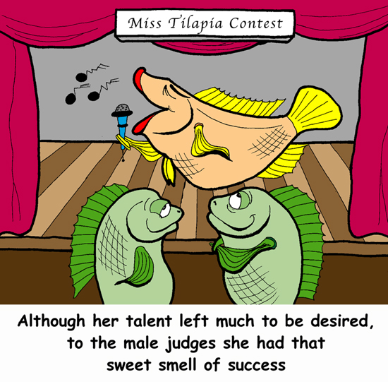 Although her talent left mucgh to be desired, to the male judges she has the sweet smell of success