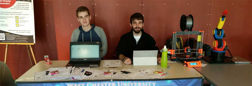 Representatives of the Computer Science Club presenting at the Spring18 WCU Student Organizations Fair.