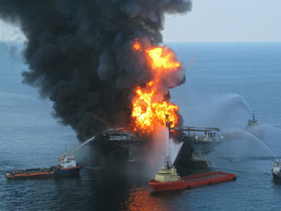 Deep Water Horizon Oil Rig Explosion