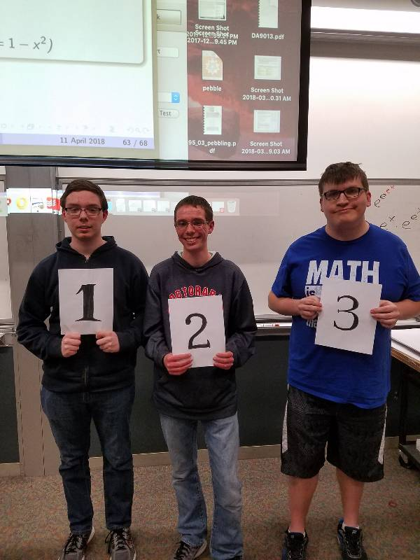 Winners of the 2018 integration bee