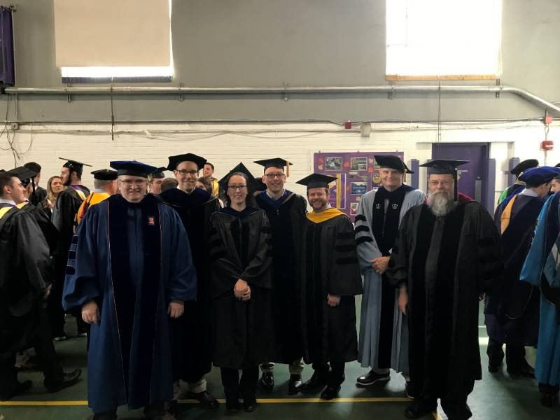 Mathematics Faculty at the Spring 2019 Graduation