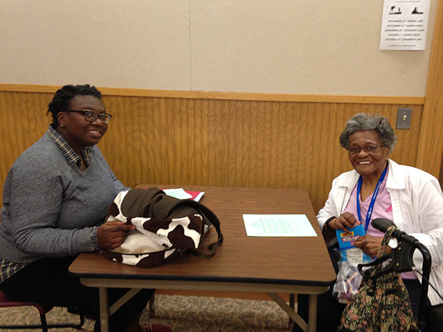 Students visit with West Chester Elders and conduct interviews
