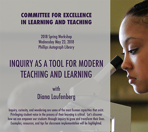 2018 Workshop: Inquiry as a Tool for Modern Teaching and Learning