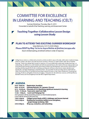 2015 CELT Workshop