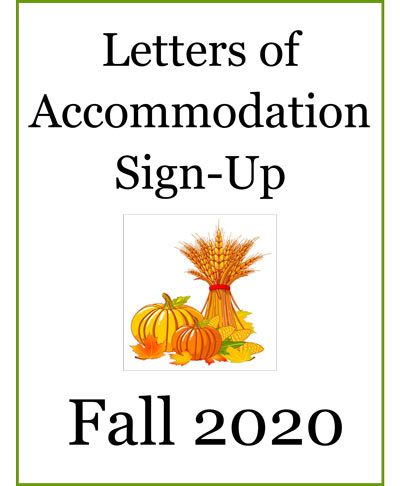 Letters of Accomodation Fall