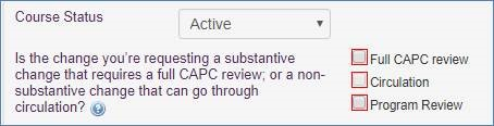 Screenshot of submit form with Full CAPC Review Checked.